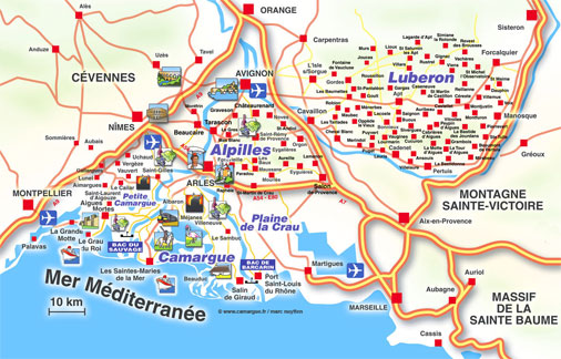 Célèbre Carte de la Camargue, cartes et plan des Saintes-Maries de la Mer  CQ39